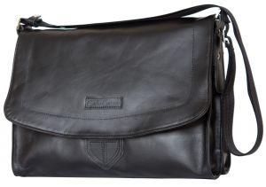 Кожаная сумка через плечо Carlo Gattini Albano black