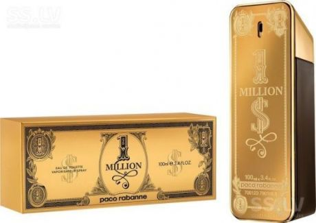 """Туалетная вода Paco Rabanne """"1 Million Dollar"""", 100 ml"""