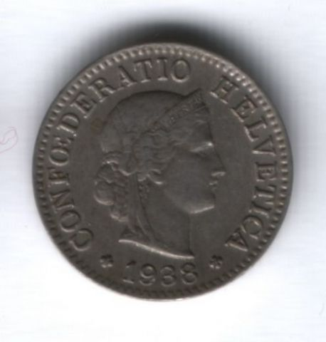 5 раппенов 1938 г. Швейцария