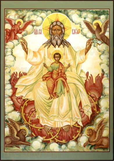 Новозаветная Троица - Отечество (рукописная икона)
