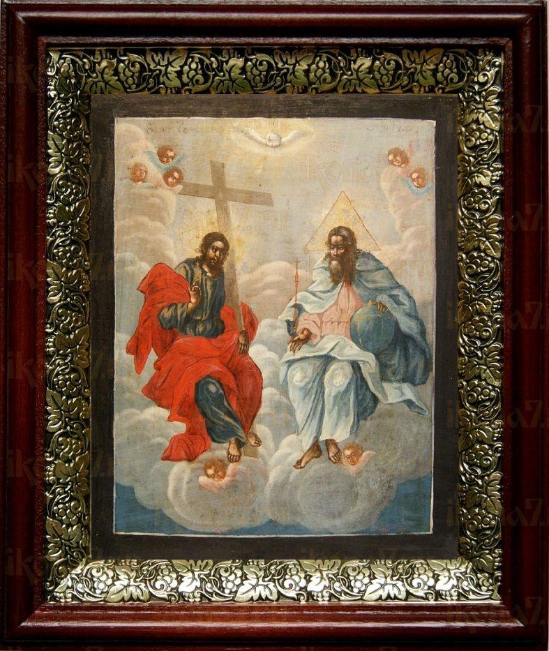 Новозаветная Троица (Сопрестолие), темный киот