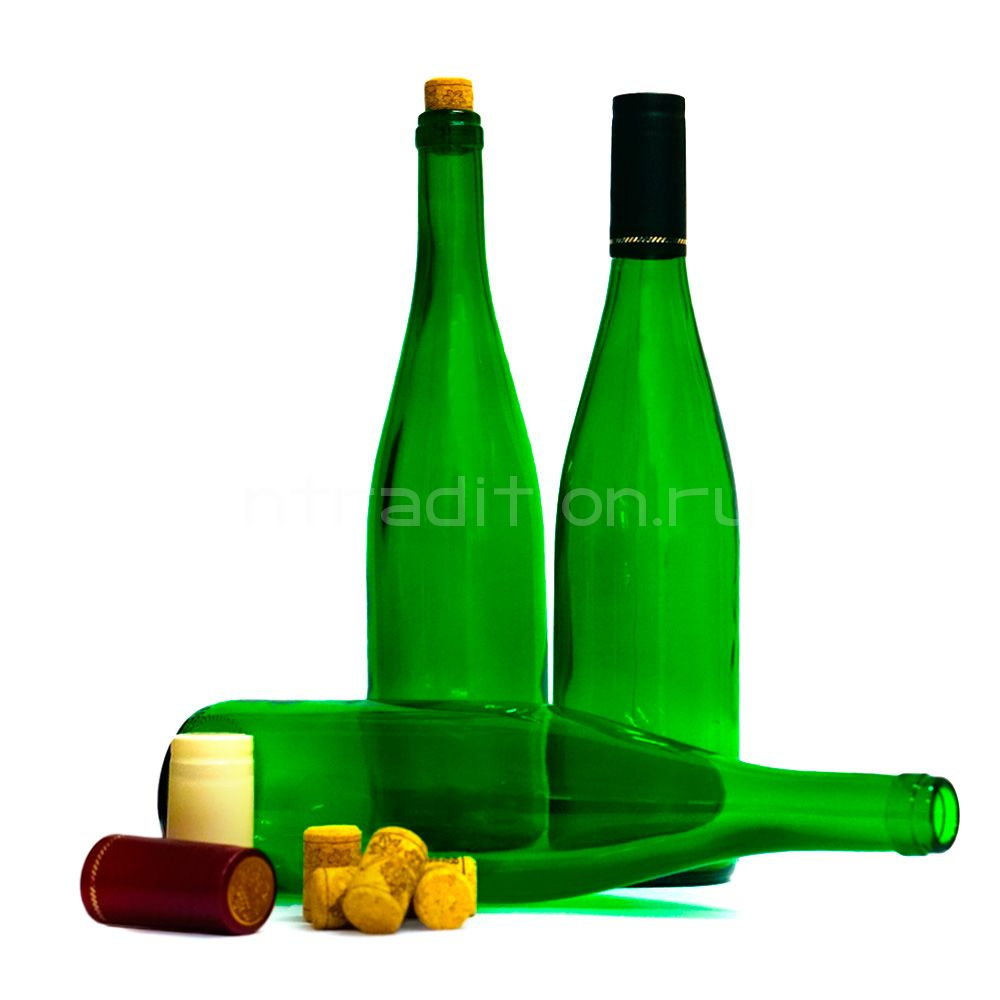 Бутылка Рейн, 0,7 л. (зеленое стекло) / 12 шт.