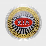 10 рублей Kia , серия автомобили мира, цветная,гравировка
