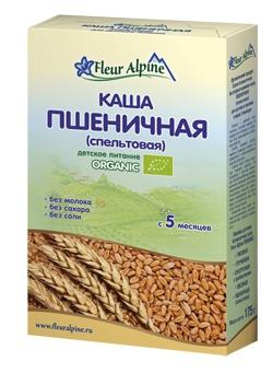 Флёр Альпин - каша Безмолочная Органик пшеничная, 5 мес., 175 гр.