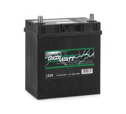 Автомобильный аккумулятор АКБ GigaWatt (Гигават) G35R 535 118 030 35Ач о.п.