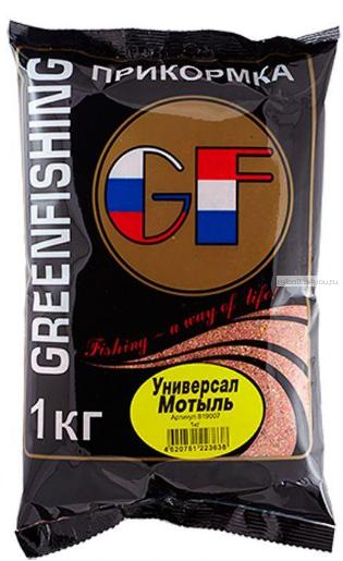 Прикормка Greenfishing GF Универсал Мотыль 1кг