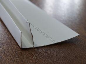 F-образный профиль белый 60мм 3м/хлыст