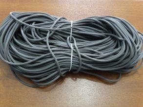 Шнур фиксирующий резиновый под закатку серый 5мм (100м/бухта)