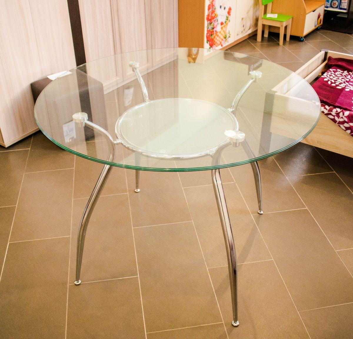 Стол кухонный стекло D-100