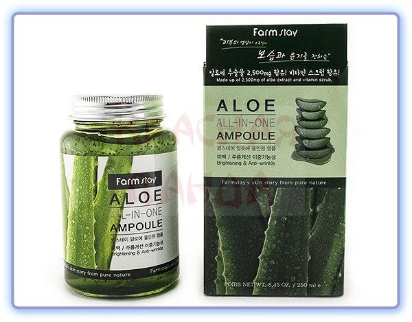 Гель-сыворотка с экстрактом алоэ Farmstay Aloe All-In-One Ampoule