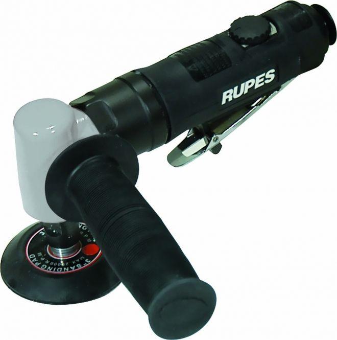 Rupes Угловая полировальная пневматическая машинка с регулятором оборотов и с рукоядкой с правой стороны