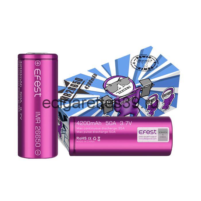 Аккумулятор Efest IMR 26650 4200mah-50A