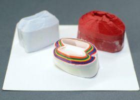 Катушки для рта (белые, разноцветные) (1 шт)