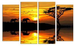 Два слона на закате