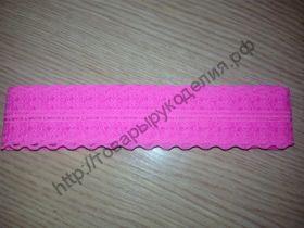 кружево гипюр 40мм ярко-розовое