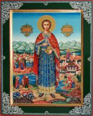 Пантелеймон Целитель (рукописная икона)