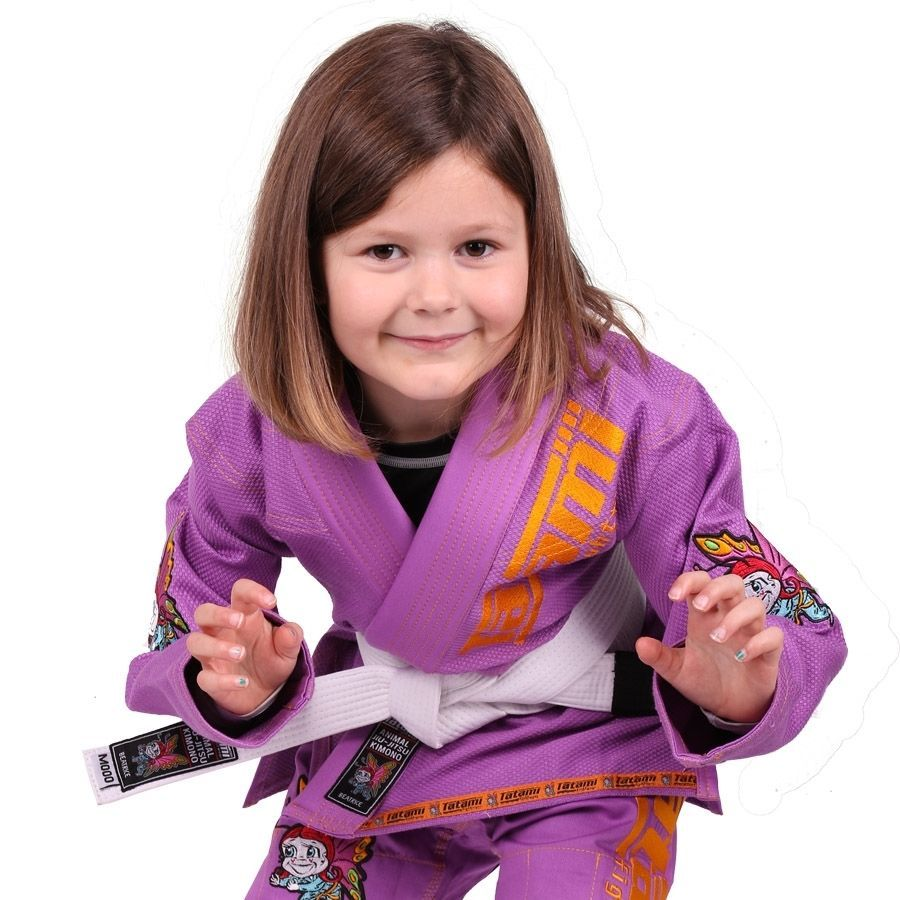 Детское кимоно Tatami Meerkatsu Animal - Purple
