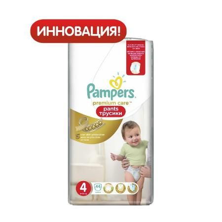 Трусики Pampers Premium care 4 (9-14 кг) 44 шт