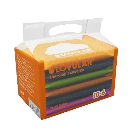 Влажные салфетки LOVULAR 10-6 шт