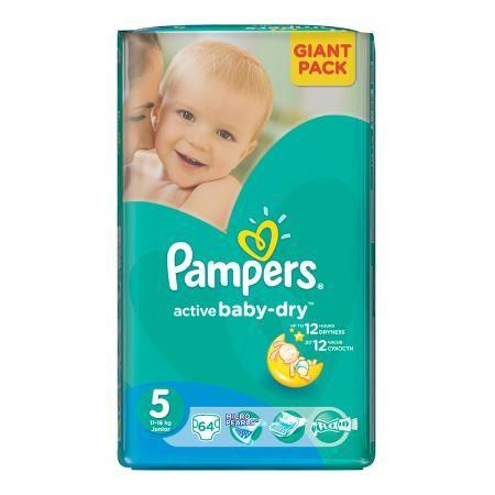 Подгузники Pampers Active Baby-Dry Junior 5 (11-18 кг), 64 шт. (в асс.)