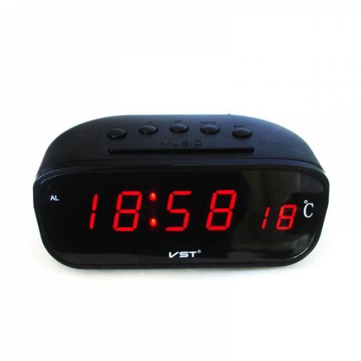 Часы эл. VST803-1 крас.цифры