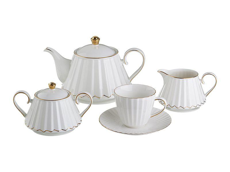 """Чайный сервиз на 6 персон """"Аврора"""", 15 пр., 1300/400/350/250 мл"""