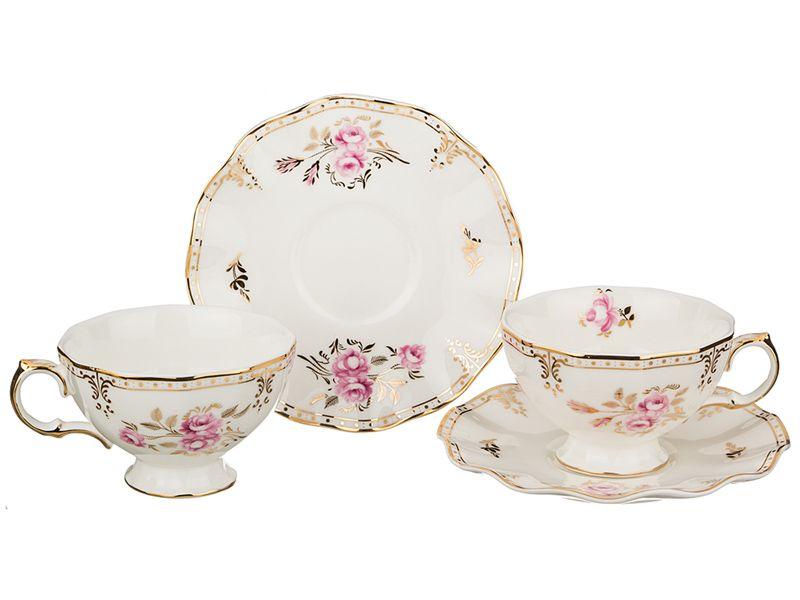 """Чайный набор на 2 персоны """"Завтрак У Королевы"""", 4 пр., 200 мл"""