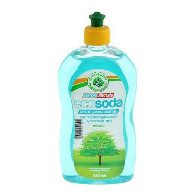Mama Ultimate Бальзам для мытья посуды и детских принадлежностей EcoSoda быстросмываемый