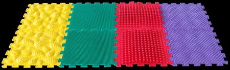 Микс Базовый ортопедический массажный коврик пазл в описании 2 видео