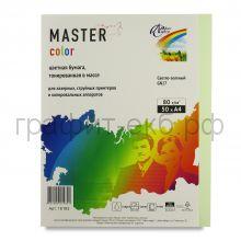 Бумага А4 50л.Master Color светло-зеленый GN27 80г/м2 16183