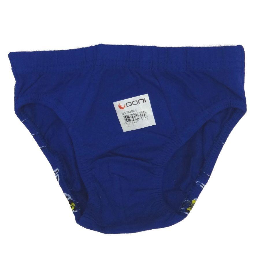 Трусы размер 110-116 для мальчика синего цвета