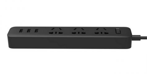 Удлинитель Mi Power Strip 3 розетки / 3 USB порта ( Черный )