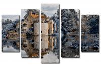 Модульная картина Заброшенный замок