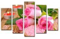 Модульная картина Розовые розы
