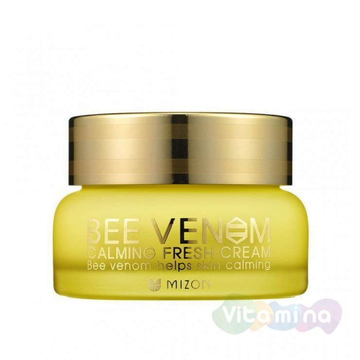 Успокаивающий крем с пчелиным ядом - Mizon Bee Venom Calming Fresh Cream