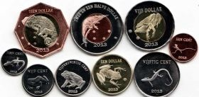 Остров Саба Набор монет 2013 (9 монет)