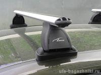 Багажник на крышу BMW 1-serie E82, Lux, аэродинамические  дуги (53 мм)