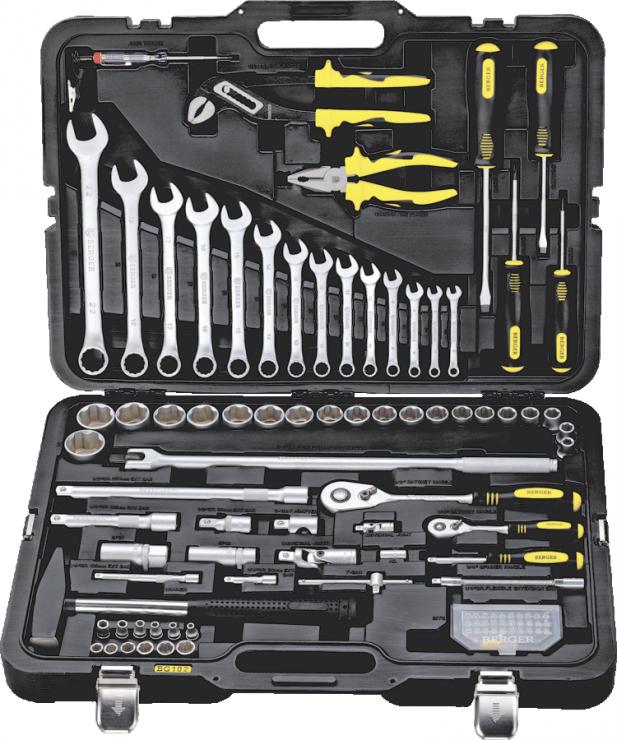 Универсальный набор инструментов 102 предмета BERGER BG102-1214