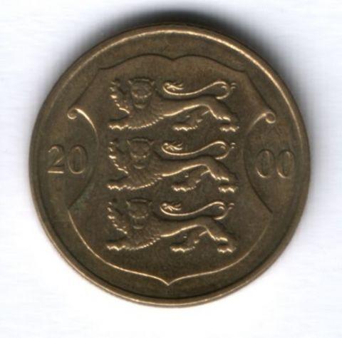 1 крона 2000 г. Эстония