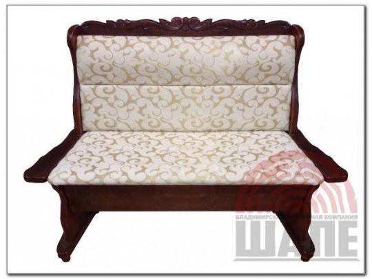 Прямой диван Себастьян с резьбой