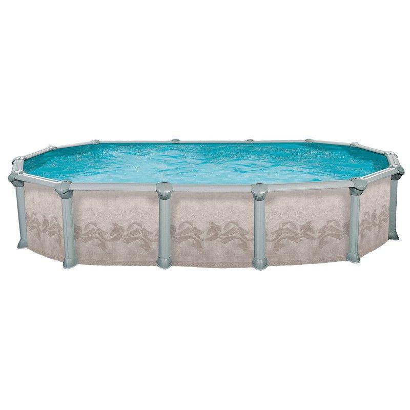 Сборный овальный бассейн Atlantic Pools Гибралтар J-4000 5,5x3,7х1,35 м