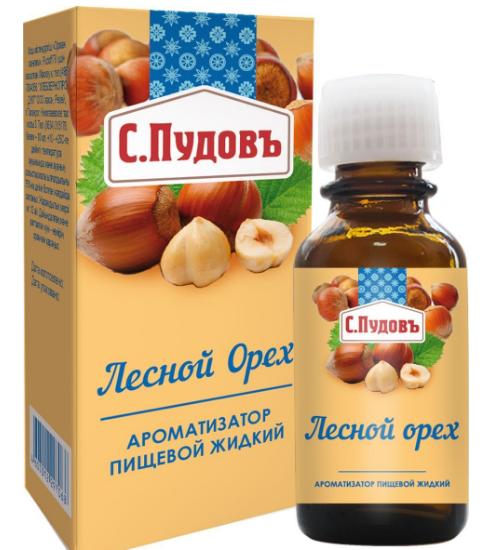 ПУДОВ Ароматизатор Лесной орех 10 мл