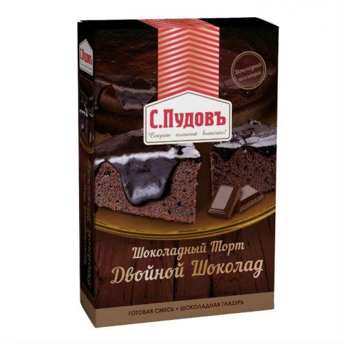 ПУДОВ Двойной шоколад мучная смесь 490 г