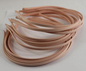 `Ободок металл обтянутый тканью 5 мм, цвет: персиковый