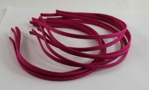 `Ободок металл обтянутый тканью 5 мм, цвет: фуксия