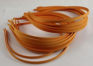 `Ободок металл обтянутый тканью 5 мм, цвет: оранжевый