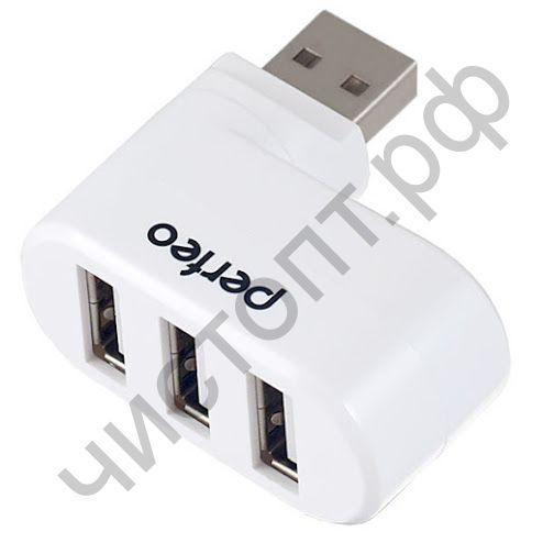 USB HUB USB-хаб Perfeo 3 Port, (PF-VI-H024 White) белый USB 2.0 разветвитель на 3 порта