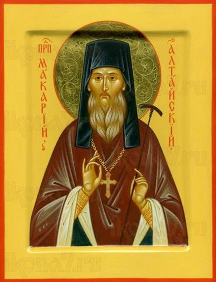 Макарий Алтайский (рукописная икона)