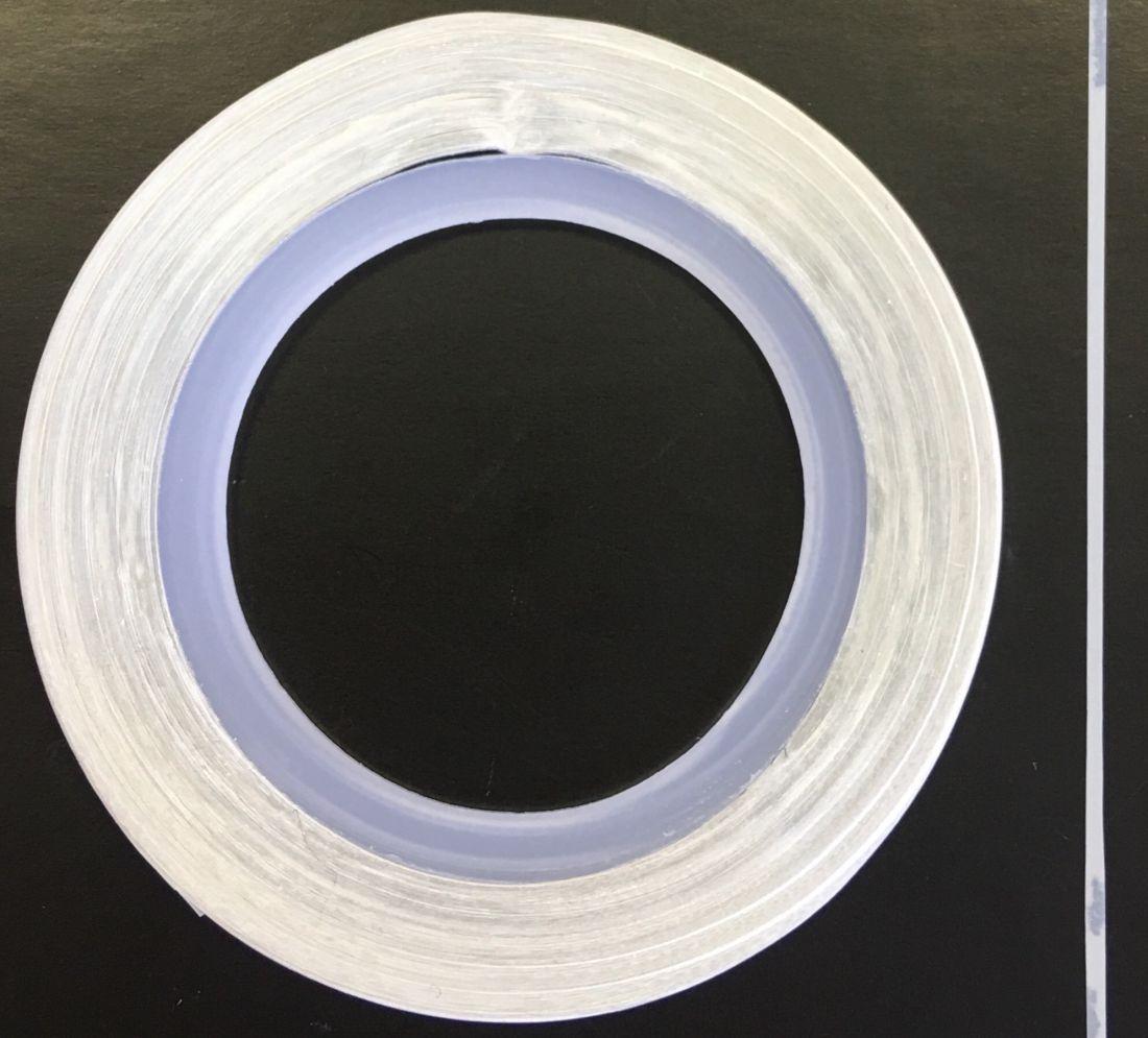 Наклейка-лента для дизайна ногтей в рулоне (0.8мм) матовая (белая)