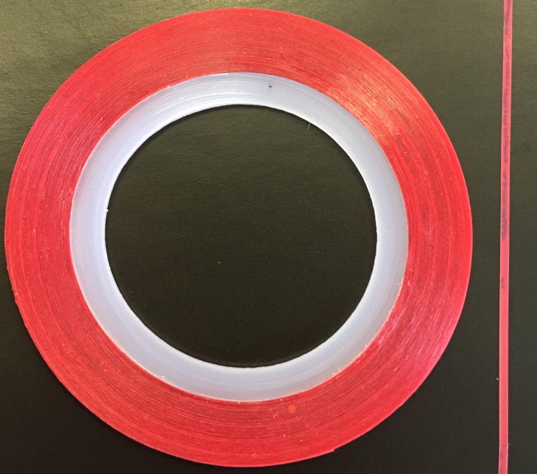 Наклейка-лента для дизайна ногтей в рулоне (0.8мм) матовая (красная)
